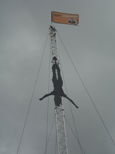 Rotorua Bungy giant silhouette at Velocity Valley.