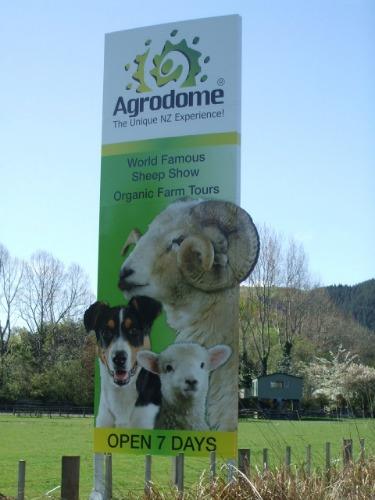 Rotorua Agrodome sign