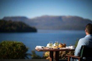 Rotorua Restaurants - Solitaire Lodge overlooks Lake Tarawera