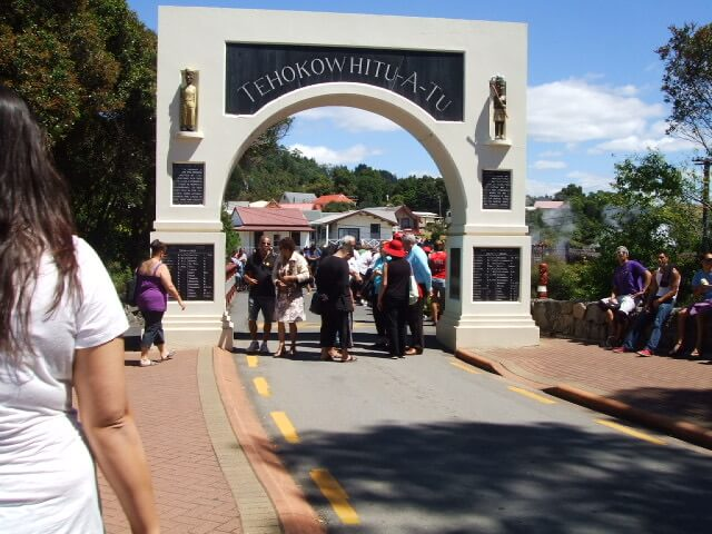 Whakarewarewa thermal village entrance on an open day - Whakanui