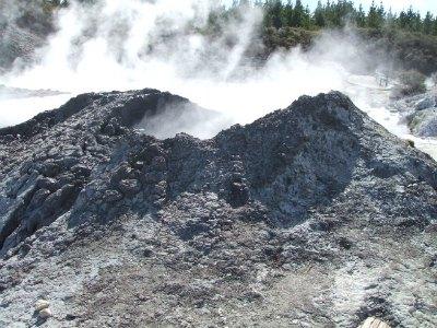 Hells Gate mud volcano attraction, Rotorua, NZ
