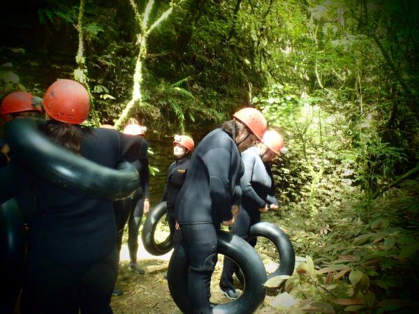 Waitomo Black Water Rafting - Suiting up