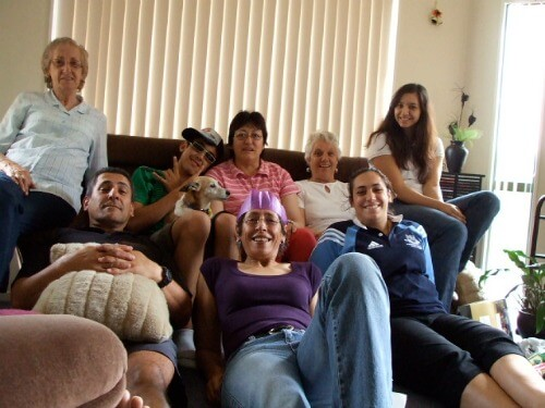 All about me - with some of the family