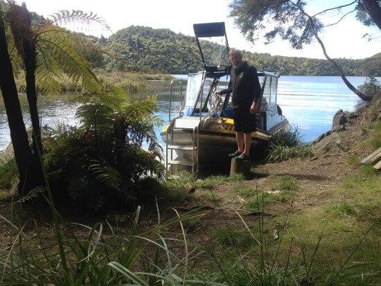 Captain Dave - Lake Tarawera Water Taxi Eco