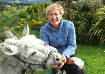 Rotorua Bed and Breakfasts - Christine Doolan and donkeys.