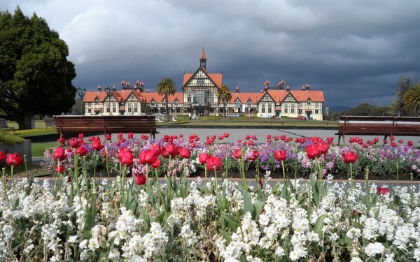 See the famous Government Gardens on a cruise excursion to Rotorua
