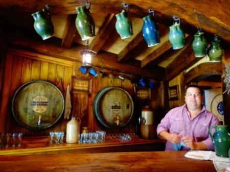 Time for a hobbit beer at the Green Dragon Inn, Hobbiton, NZ