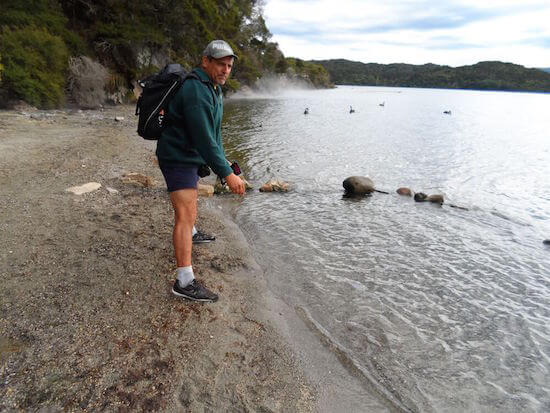 Hot Water Beach at Te Rata Bay, Lake Tarawera