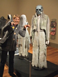Karen at the Bedazzeld Exhibition at Rotorua Museu