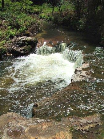 Kerosene Creek, Rotorua, NZ - above the falls