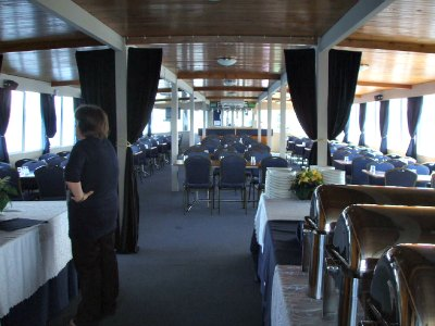 Lakeland Queen cruises - top level with smart dining