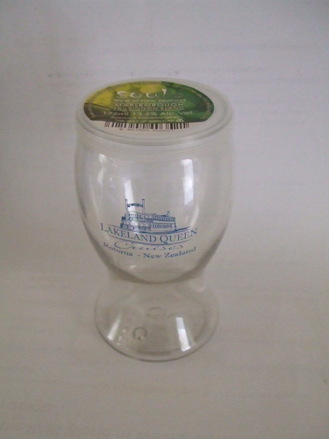 Lakeland Queen wine glass to go. Very nifty.