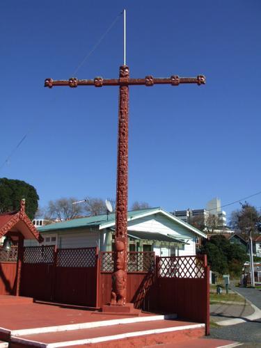 Pou Haki (Flag Pole) at Ohinemutu, Rotorua, NZ