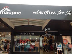 Macpac is a popular NZ outdoor gear store, this one located in Rotorua.