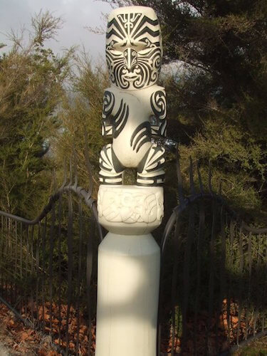 Māori carving at the Government Gardens, Rotorua, NZ