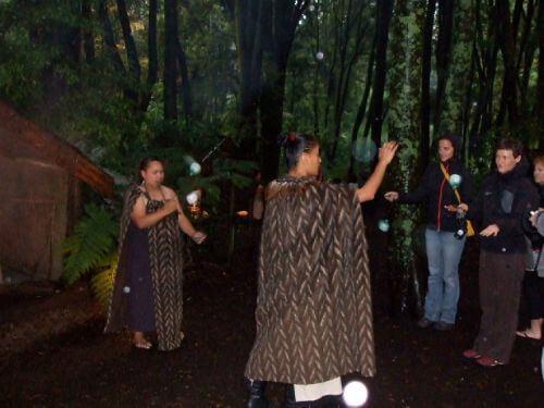 A Poi Demonstration at Tamaki Māori Village