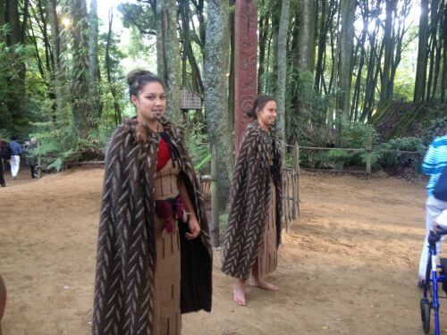 Two young entertainers at Tamaki