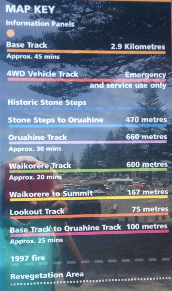 (Mauao) Mount Maunganui walking tracks guide to map - New Zealand.