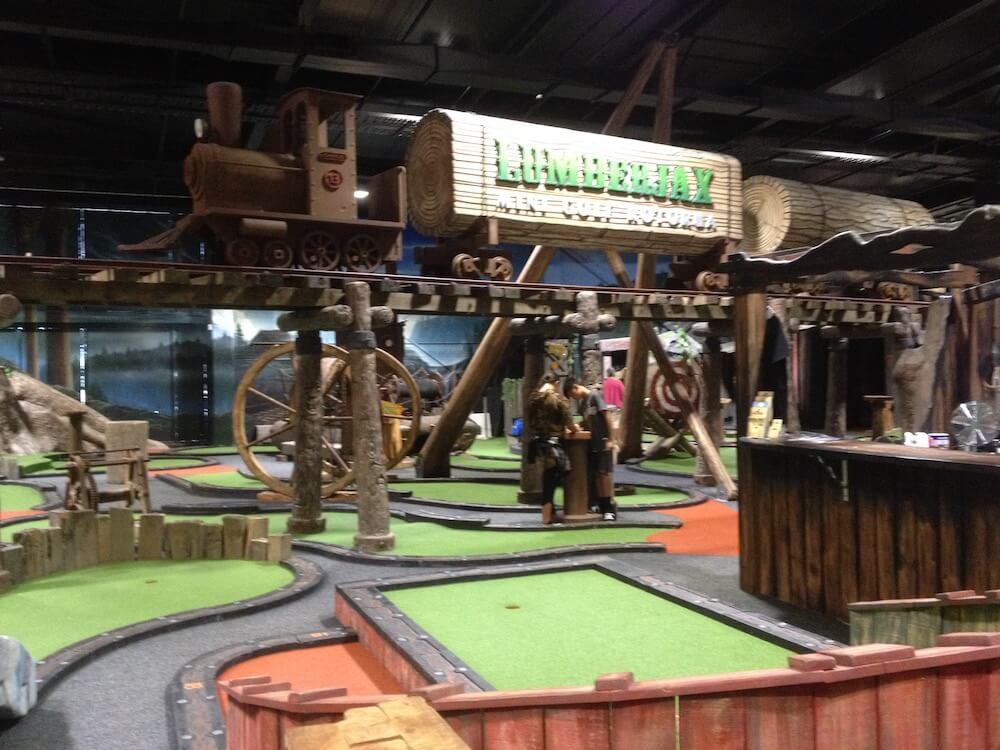 Lumberjax mini golf course Rotorua