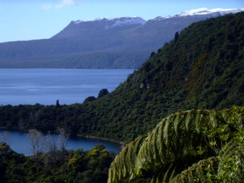 A snow-capped Mount Tarawera