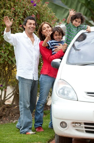 New Zealand rental car hire - family pic