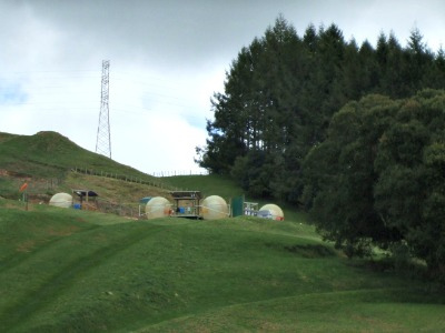 Zorbing in Rotorua, NZ