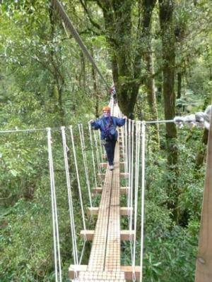 Canopy Tours Swing Bridge - friend Julie