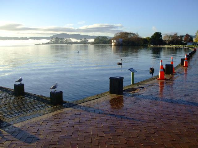 Rotorua Lakefront looking towards Sulphur Point