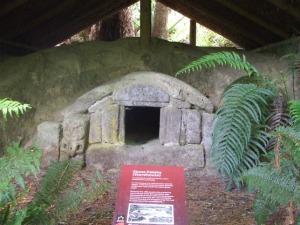 Rotorua Marae Stay - Stone Pataka (food storehouse at Te Wairoa Buried Village)