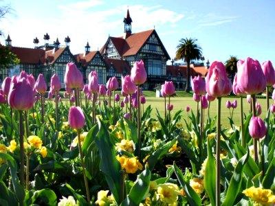 Rotorua Museum Of Art & History in Spring