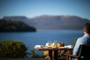 Rotorua Restaurants - Solitaire Lodge overlooks Lake Tarawera
