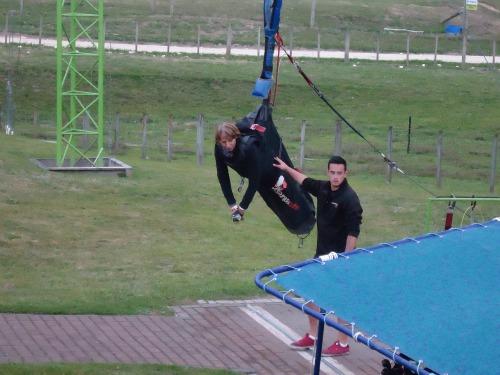 Rotorua Swoop - yours truly in full body harness