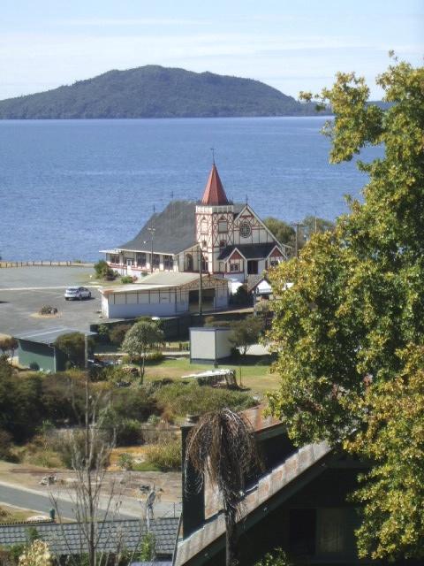 St Faiths Church, Rotorua, NZ - view from Pukeroa Hill