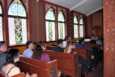 St Faiths Church, Ohinemutu, Rotorua, NZ - Stained glass windows