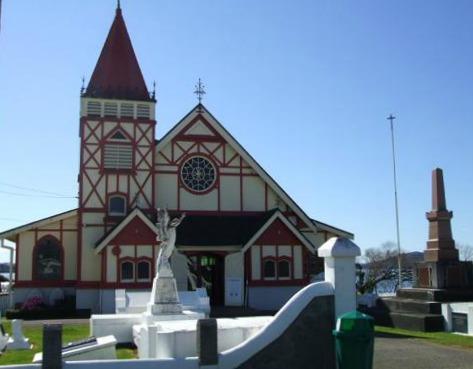 St Faiths Anglican Church at Ohinemutu, Rotorua, NZ