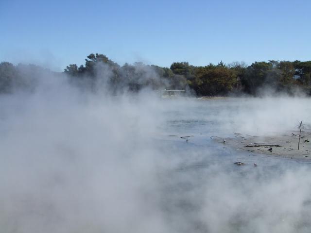 Rotorua sulphur wafts on the breeze