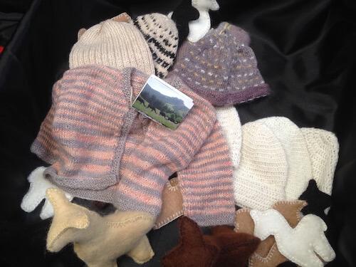Surico clothing and toys made out of alpaca fibre/fleece.