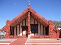 Tamatekapua meeting house at Ohinemutu, Rotorua, NZ