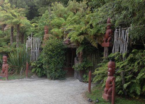Tamaki Village, Rotorua, NZ - Entering the village