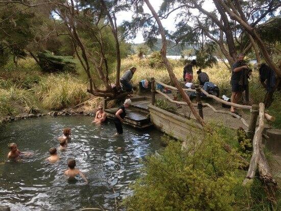 Natural Hot Water Pool at Lake Tarawera