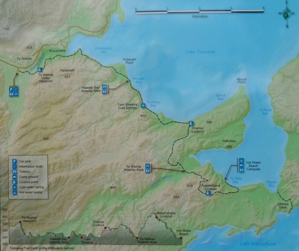 Tarawera Trail map