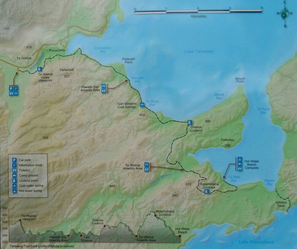Tarawera Trail map