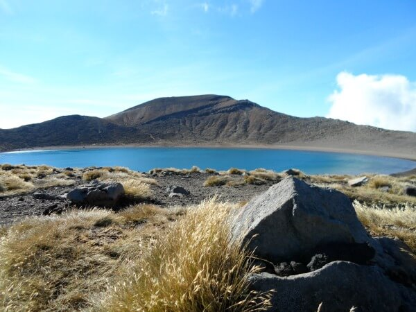 The Blue Lake on the Tongariro Crossing, New Zealand.