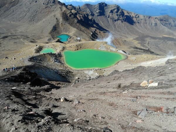 The Emerald Lakes on Mt Tongariro Crossing, New Zealand