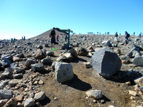 Tongariro Crossing's highest point. New Zealand