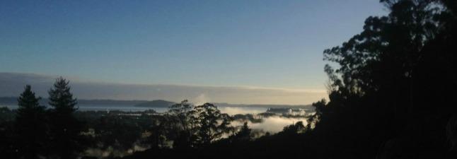View over Rotorua city from the Whakarewarewa trigg.