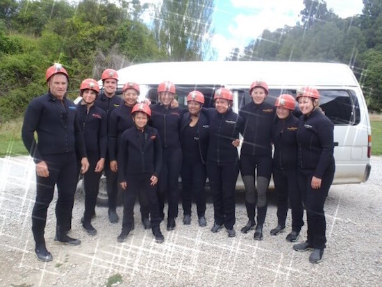 Waitomo black water rafting - our group