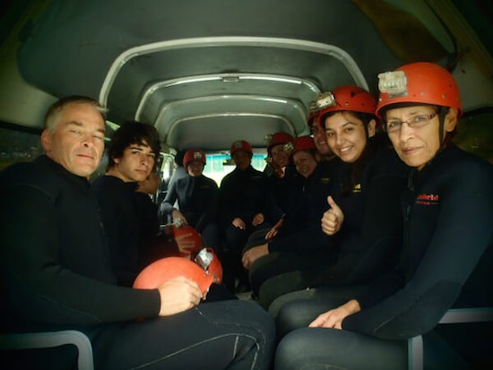Off to Waitomo Black Water Rafting on tubes
