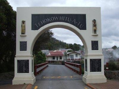 Whakarewarewa thermal village entrance