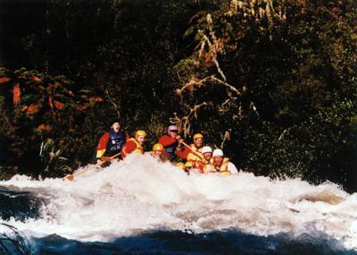 White Water Rafting Rotorua - My team and I on the Rangitaiki